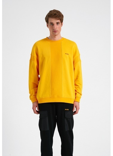Huxel MUS002212 Glam Street Sarı Sweat Sarı